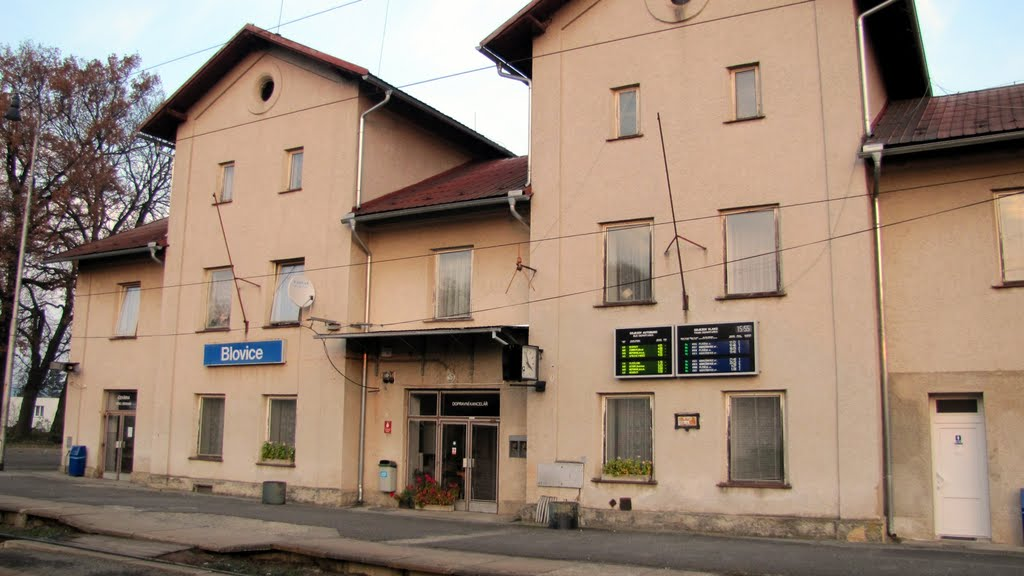 10) Blovice station. The end of the walk.