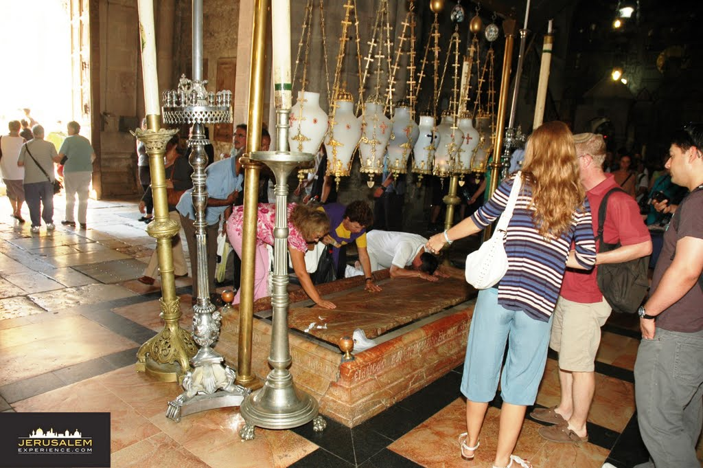 Stone of Anointing - Holy Sepulcher - JerusalemExperience