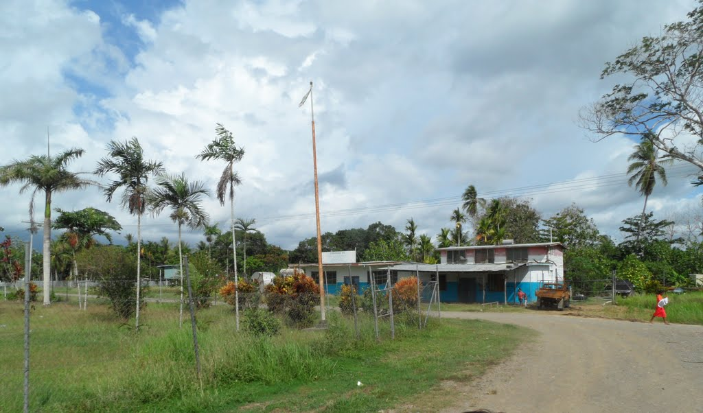 Buildings along the road in INAUAIA, on 11-11-2011