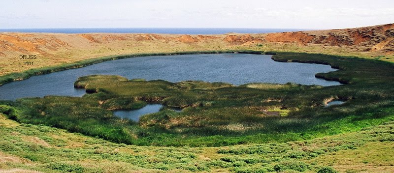 THE LAKE INSIDE THE CALDERA
