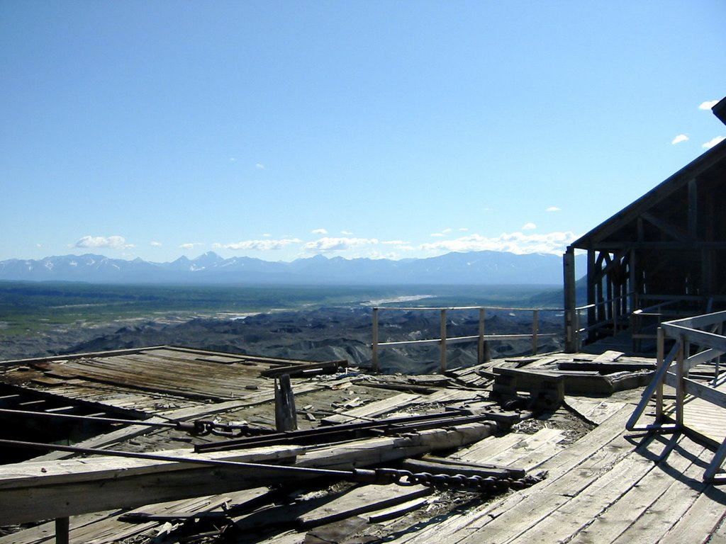 View from top of mill building, Kennicott