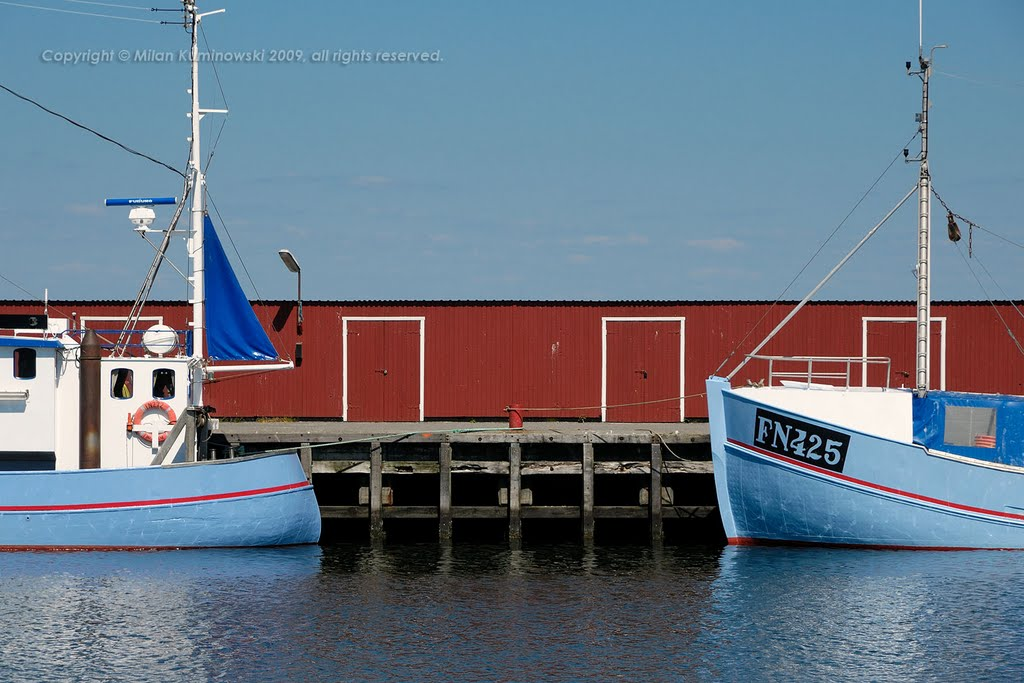 Traditional fishing boats of Østerby Havn at Læsø, Denmark