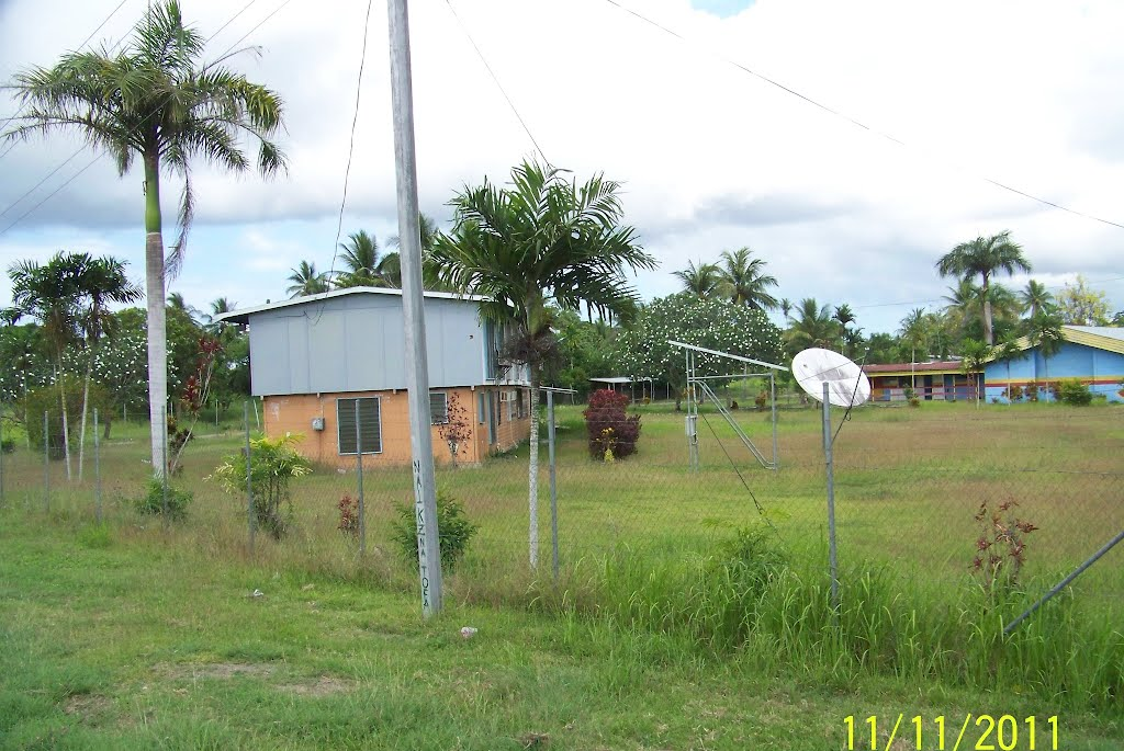 Looking into a School area in INAUAIA town area, on 11-11-2011