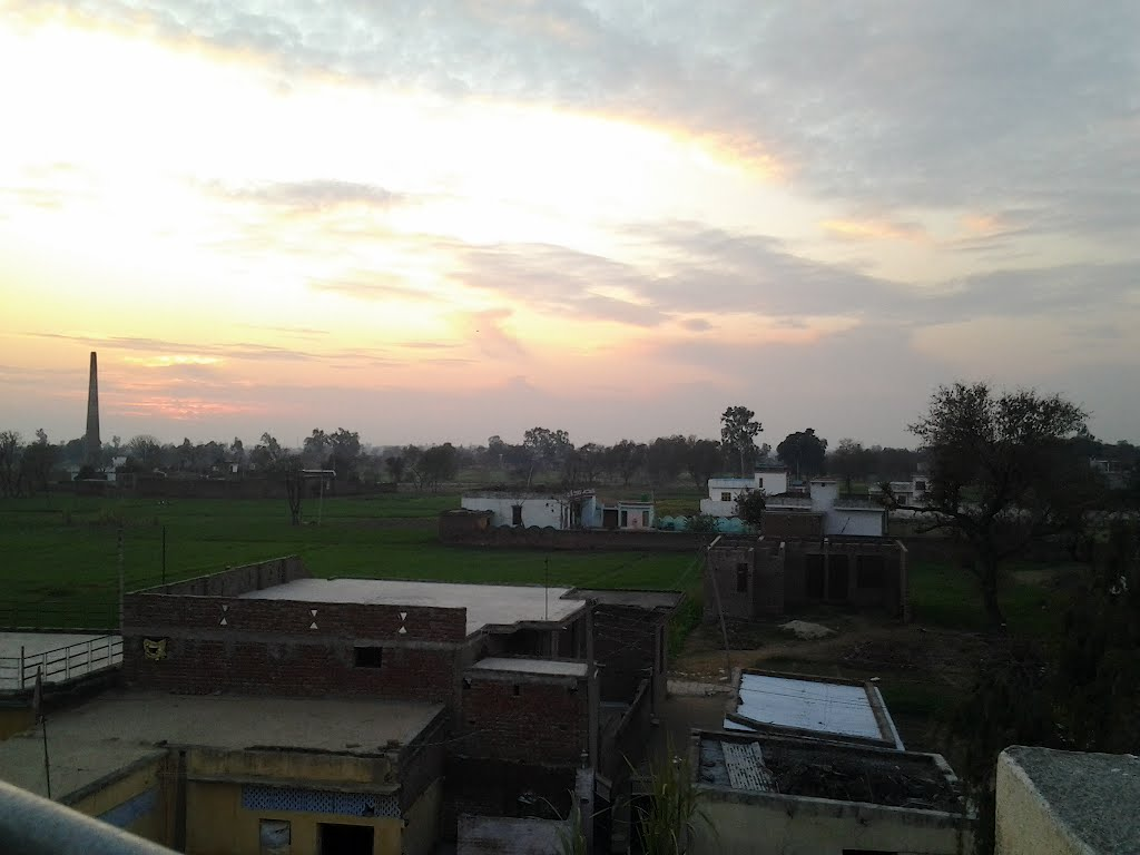 Sunset view of my village