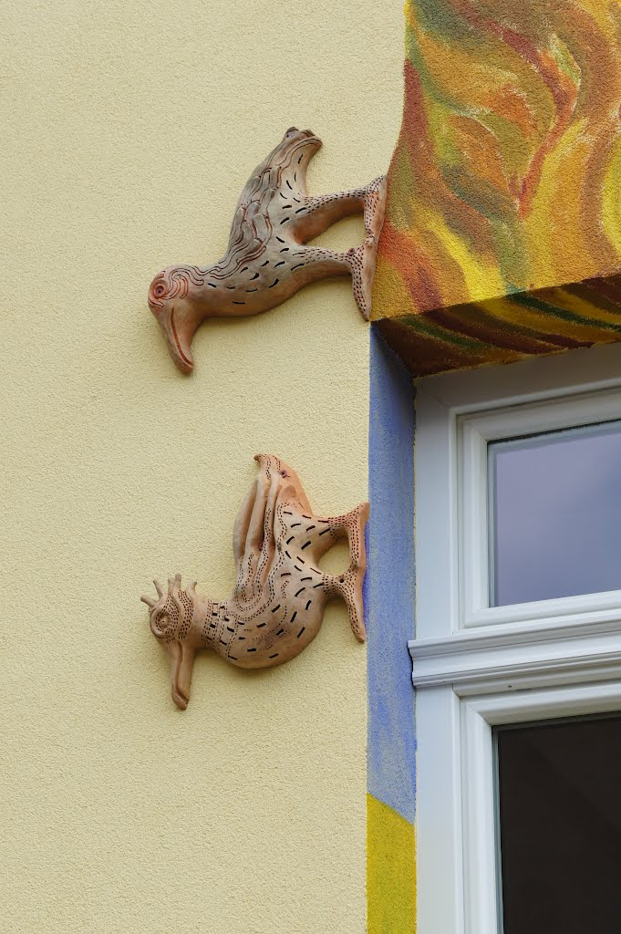 hilarious house in Rajecké Teplice (detail)