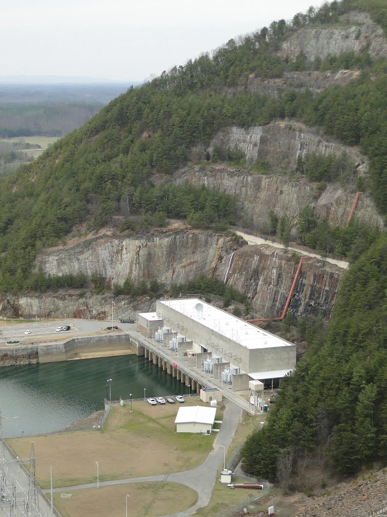 Carters Lake And Dam Powerhouse From Atop Carters Lake Dam Mapio Net