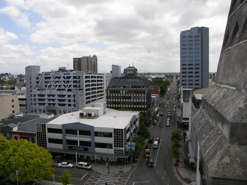 View from Christ Church Cathedral, Christchurch, NZ