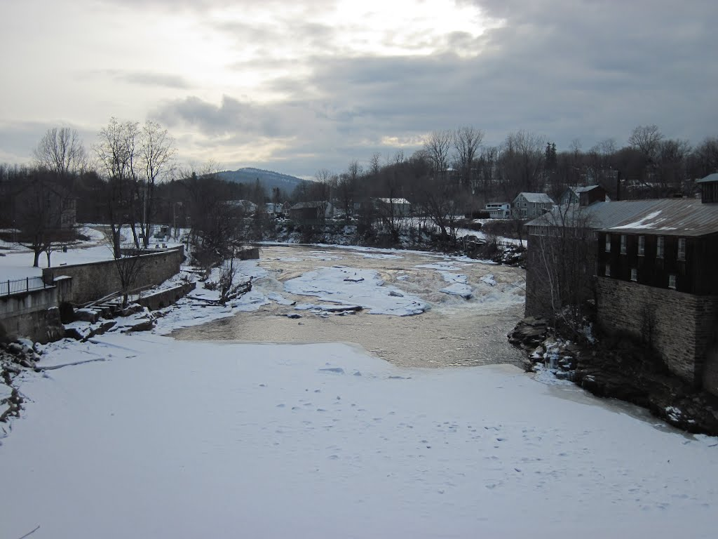 Ausable falls at Keeseville