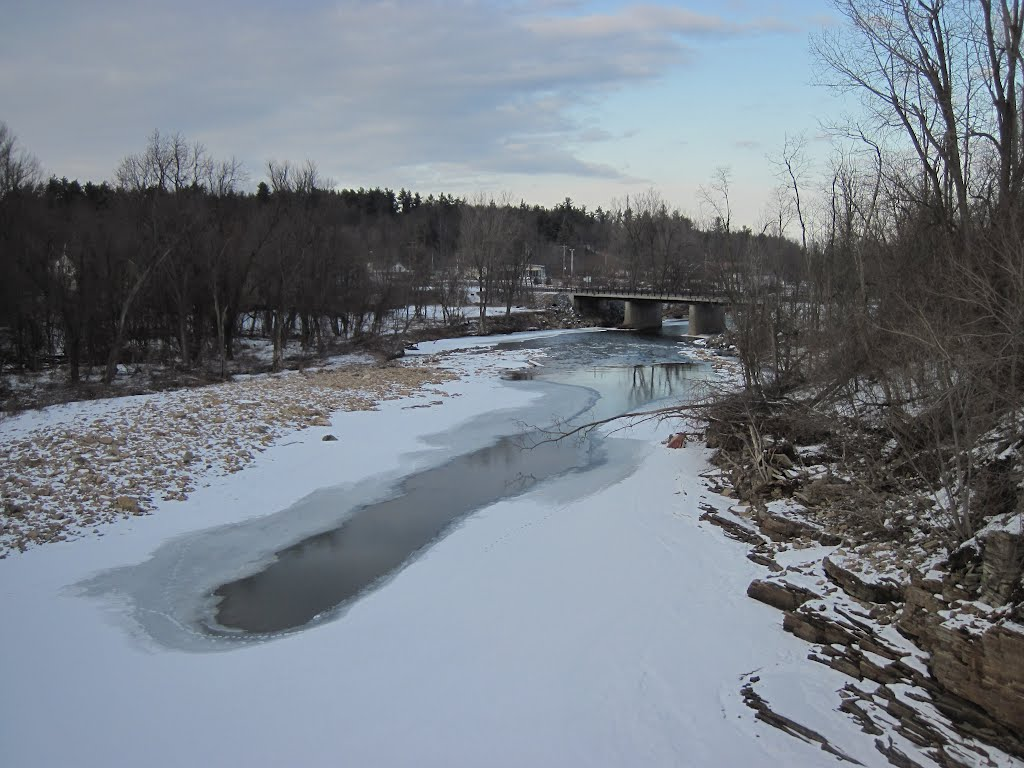 the ausable river flowing away from keeseville