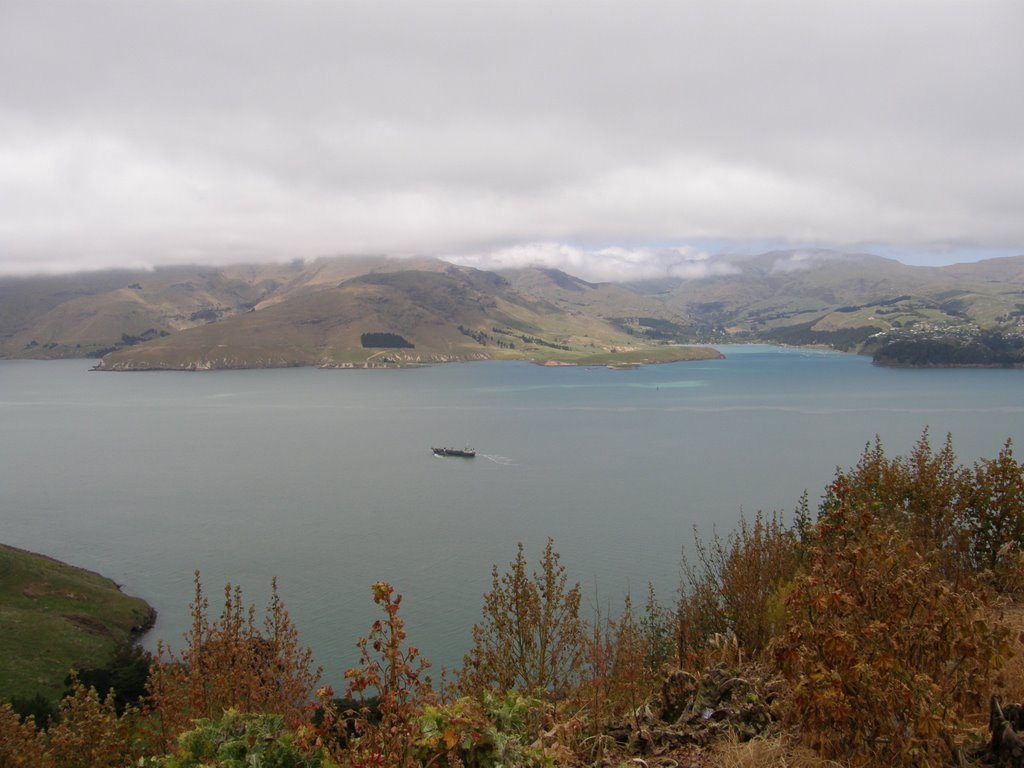 Lyttelton Harbour from Sumner Rd, Christchurch, NZ