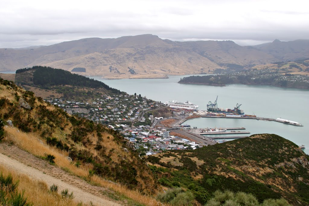 Port Lyttelton from the Port Hills, Christchurch NZ