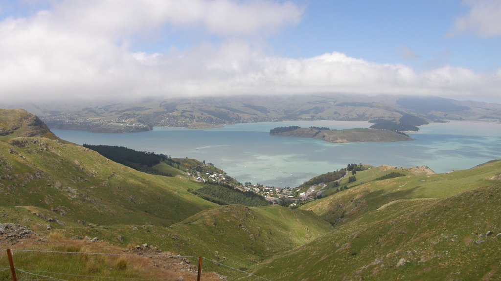 Cass/Corsair Bays from Summit Rd, Christchurch, NZ