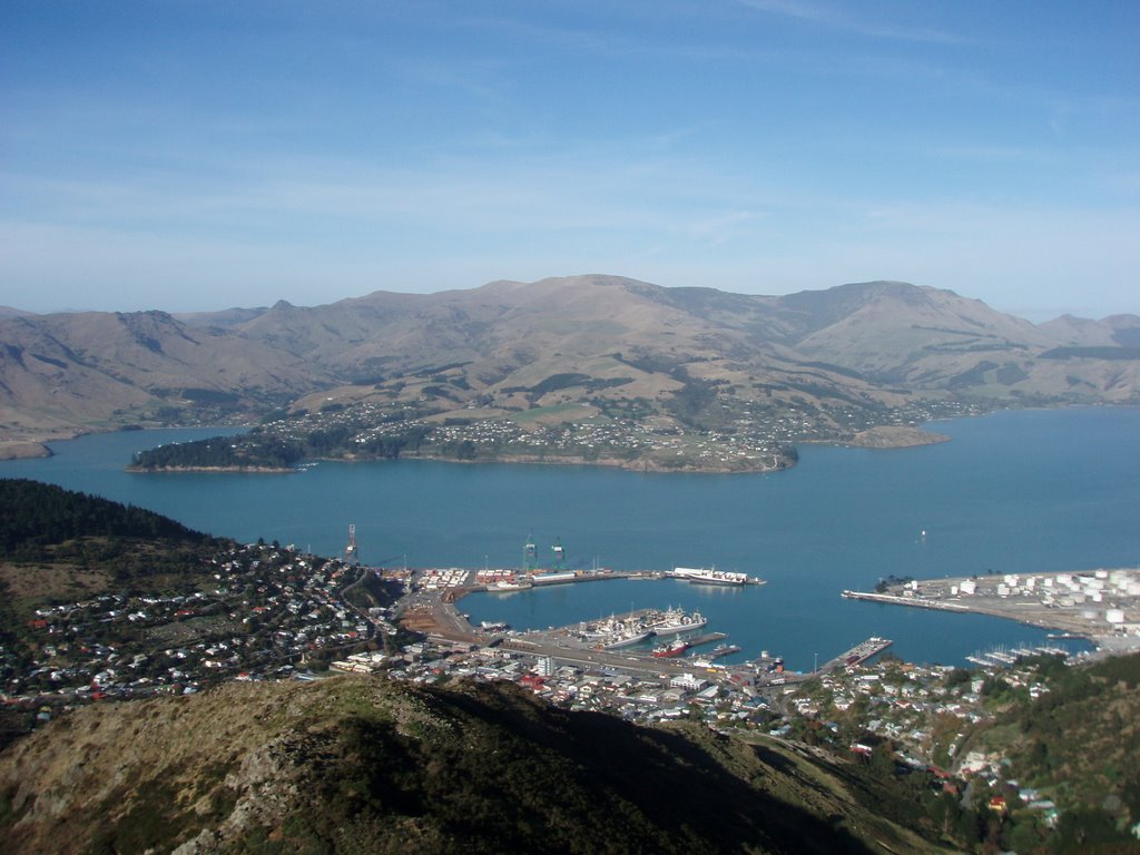View over Lyttelton Harbour