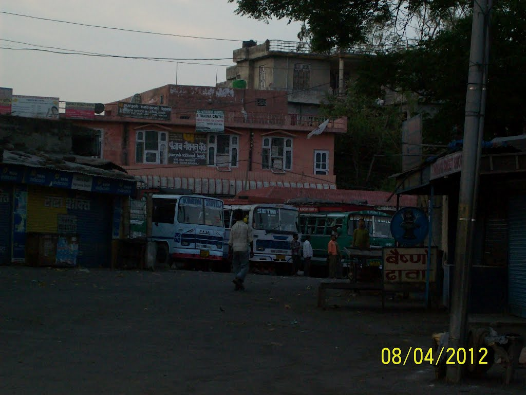 Basohli Bus Stand from outside