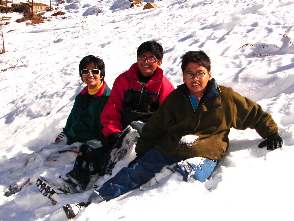 On the snow covered ski slope - Auli