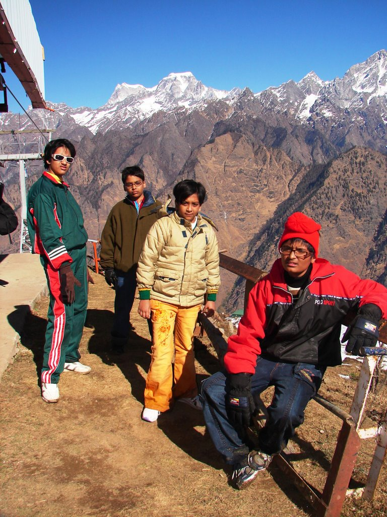 On the Auli Cliff Top