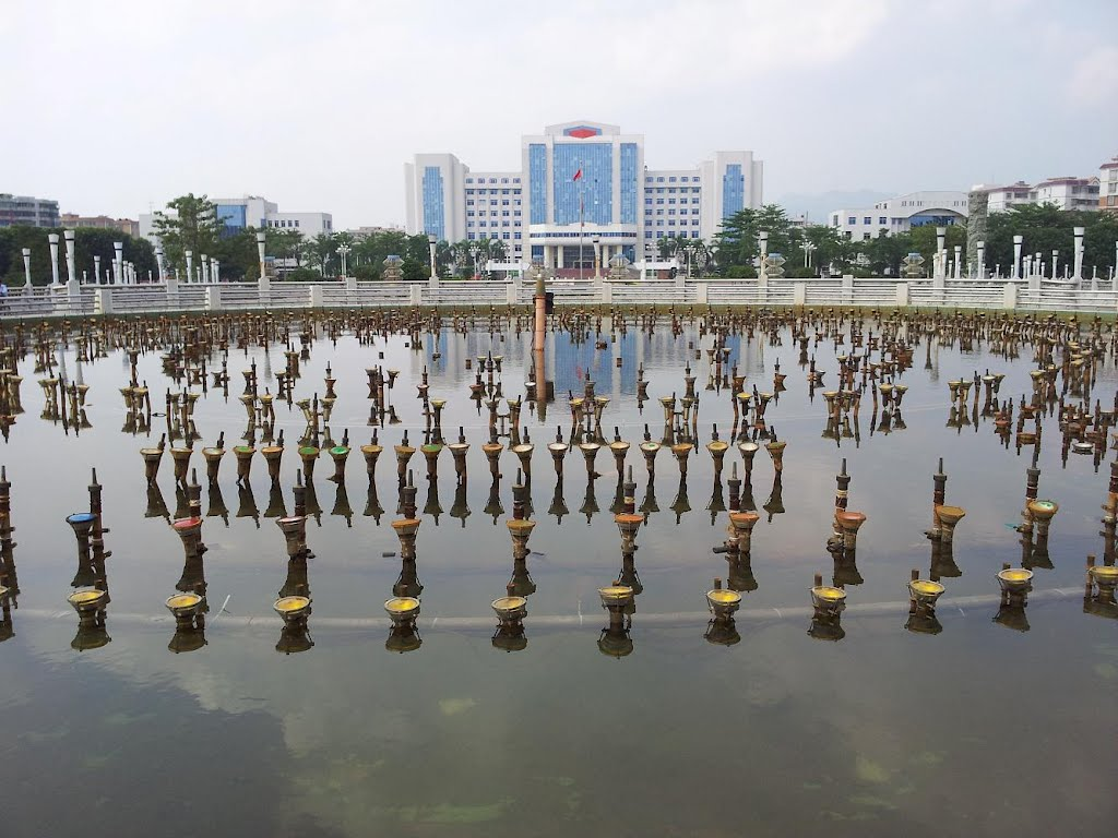 Musical fountain near Kaiping People's Government building