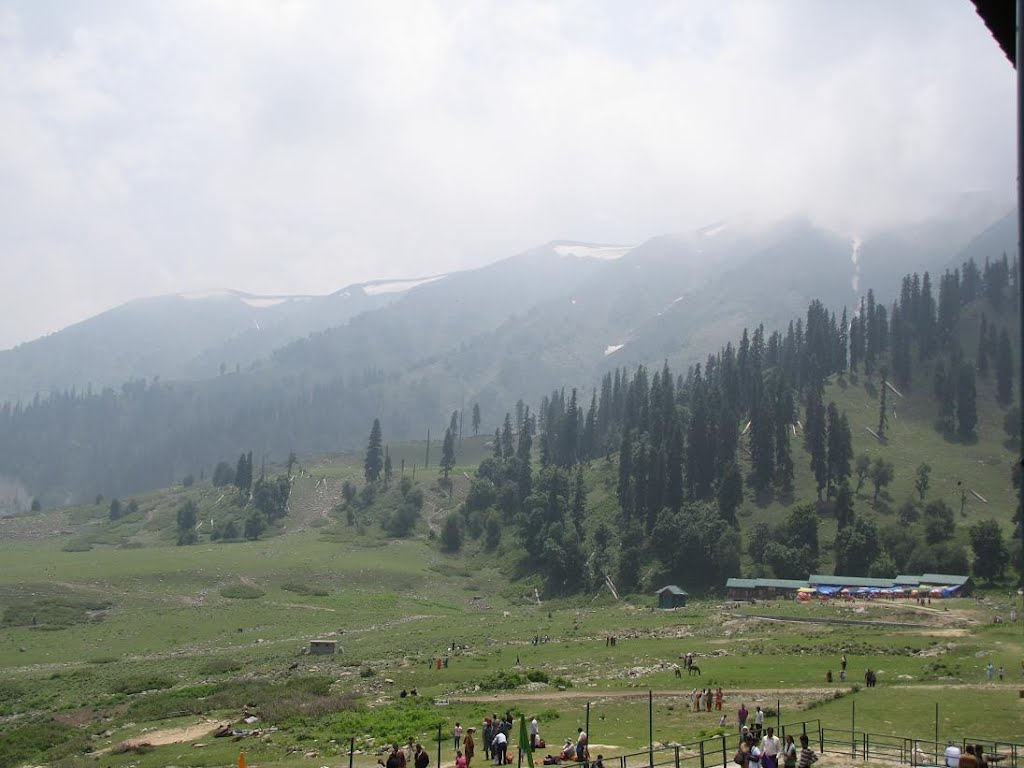 View of the valley from stage1, Gondala, Gulmarg