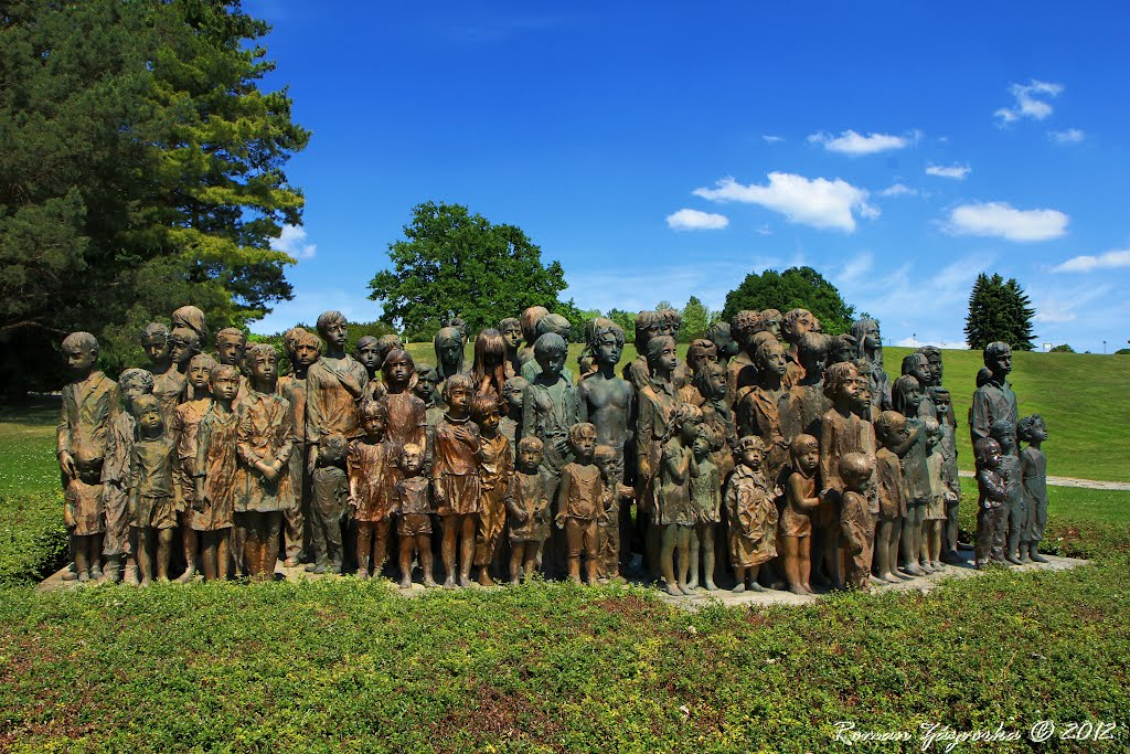 Memorials in the Czech Republic. The children´s war victims memorial in Lidice. In Memory of the Millions of Children who perished in the Second World War (82 sculptures in bronze)