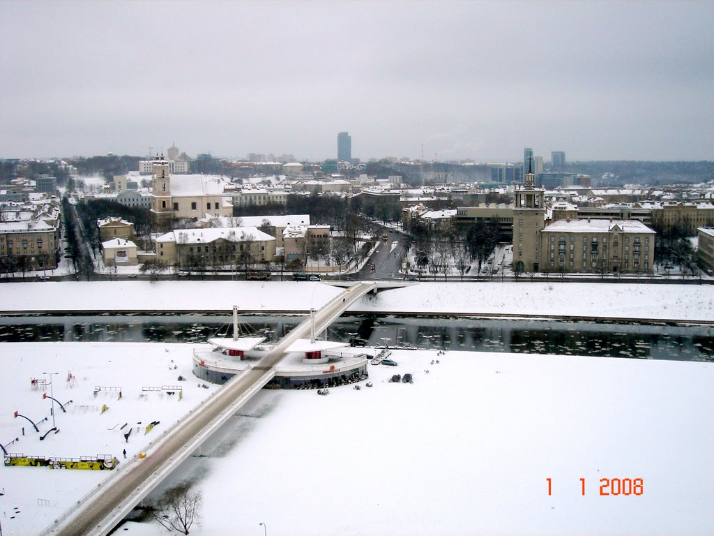Vilnius - View from Reval Hotel Lietuva in January 1th, 2008