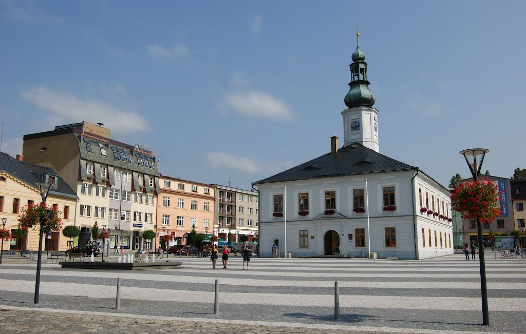 The Town Of Jeseník, The Masaryk´s Square, The Town Hall