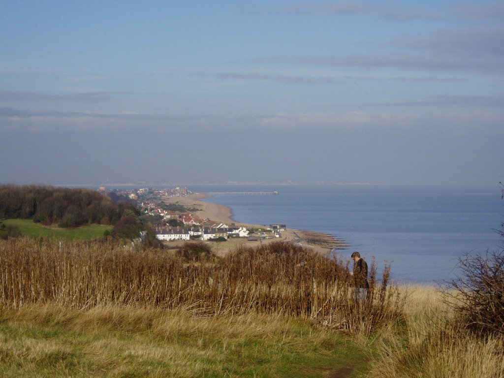 Looking north from Kingsdown Cliffs Christmas Eve 2005