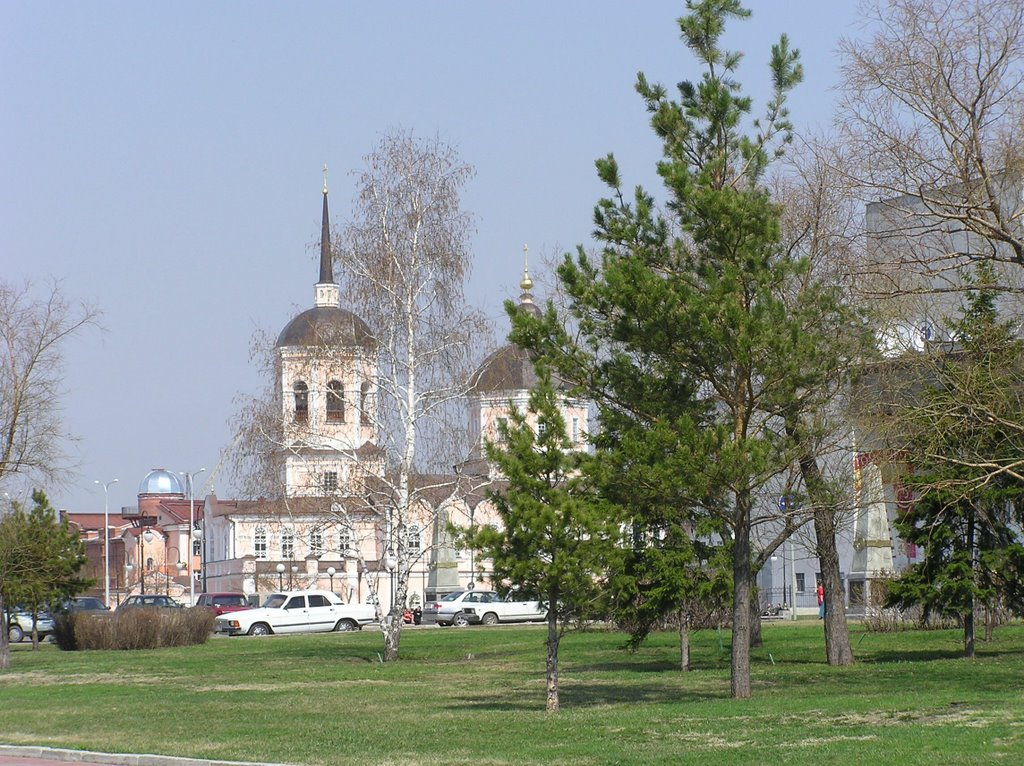 Central Square. View  from Chekhov's monument (near Tom-river)