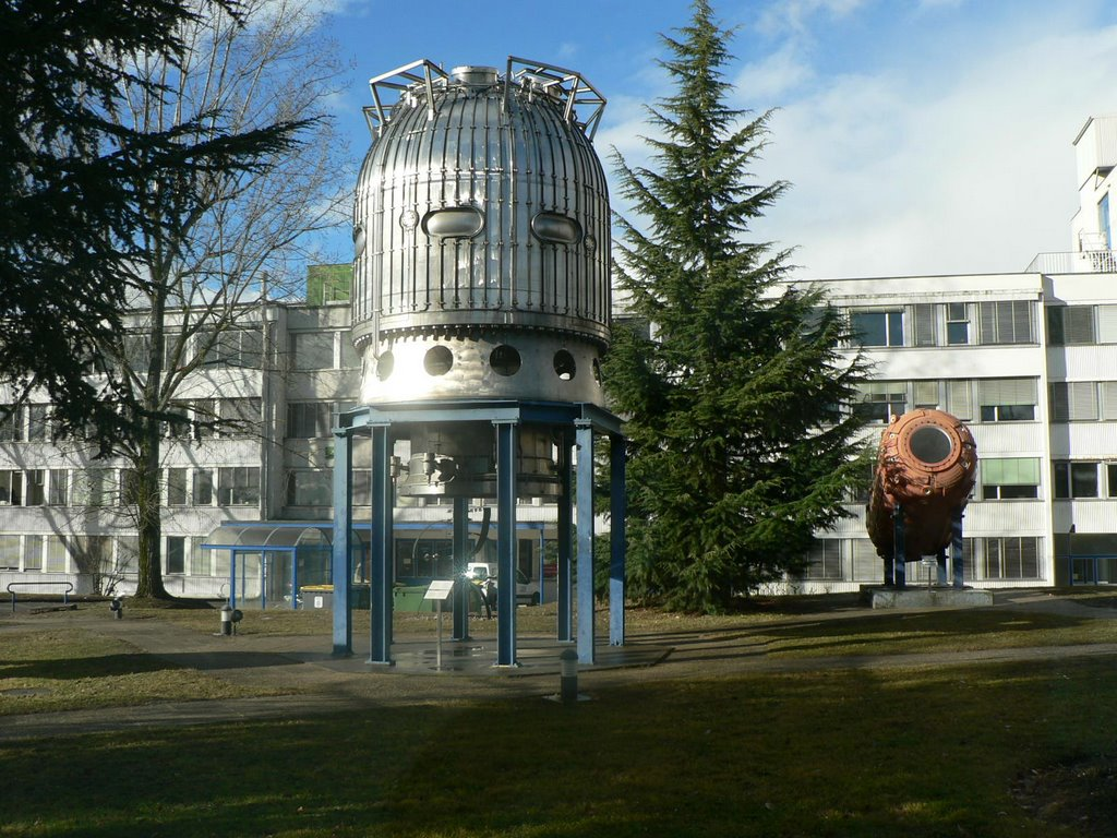 The Bubble Chamber at the Museum at CERN, Switzerland/France