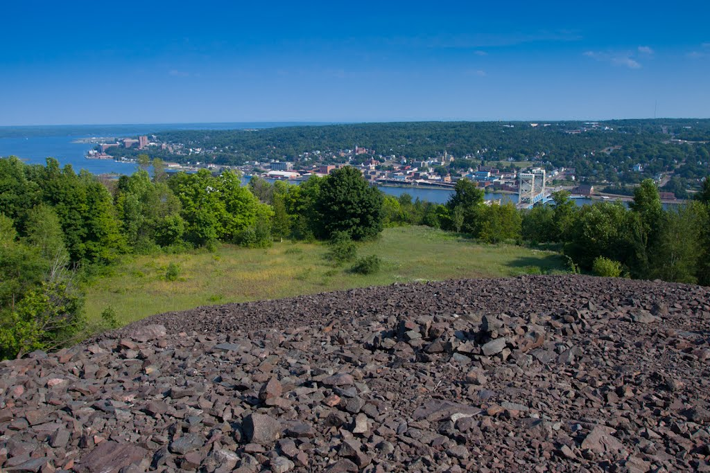 Houghton from Quincy Mine