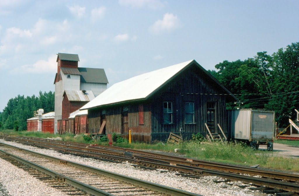 Central Vermont Railway Freight Depot and Grain Elevator at Milton, VT
