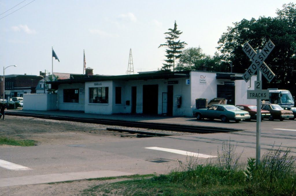 Central Vermont Railway Offices and Amtrak Station at Essex Junction, VT