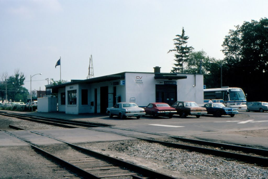 Amtrak Station and Central Vermont Railroad Freight Depot at Essex Junction, VT