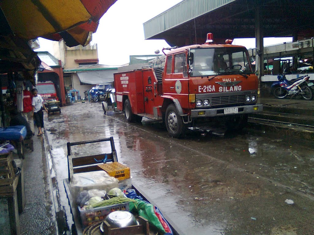 Public Market with Fire Truck,, Silang, Cavite, Ph.