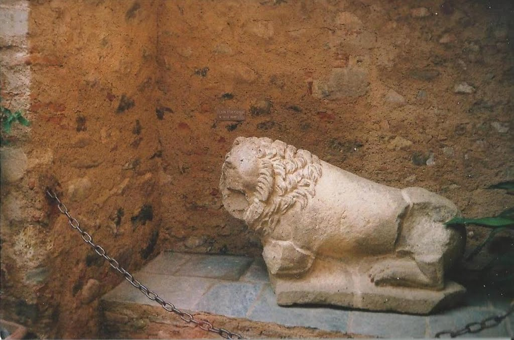 Ruins of a lion's statue in the old city of Aléria