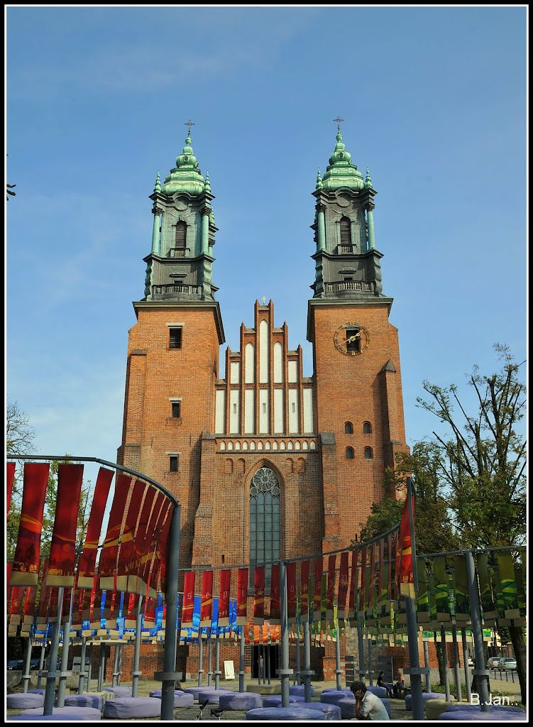 Cathedral Basilica of Saints Peter and Paul in Poznan, the view from the west