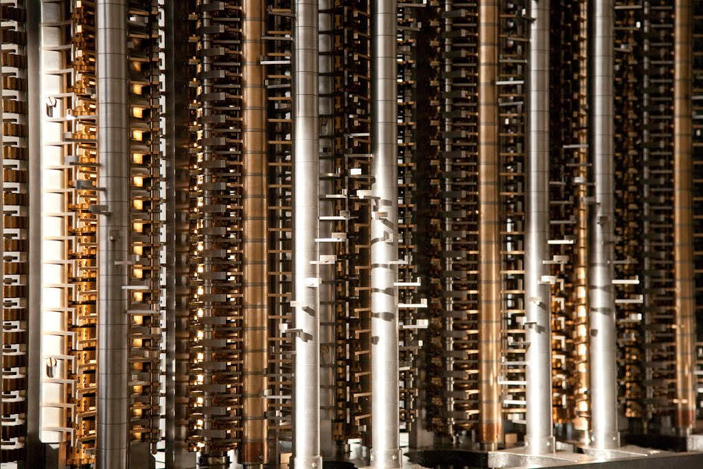 Closeup of Babbage difference engine