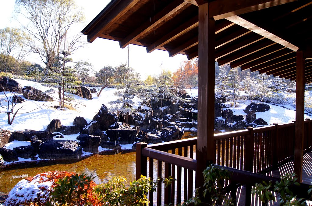 Japanese garden in early winter @ Fukushima Japan