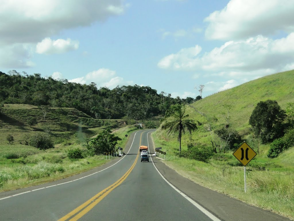 The BR101 Road, near Cruz das Almas city, Bahia, Brazil