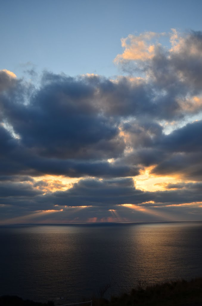 Sunset in the East China Sea