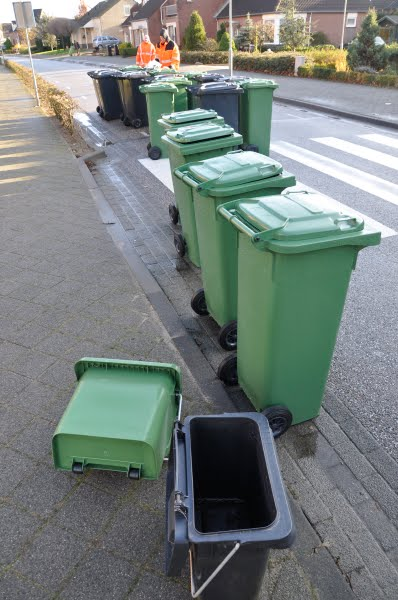 New trash cans are distributed