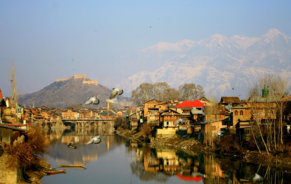 A fascinating view of the old city of Srinagar