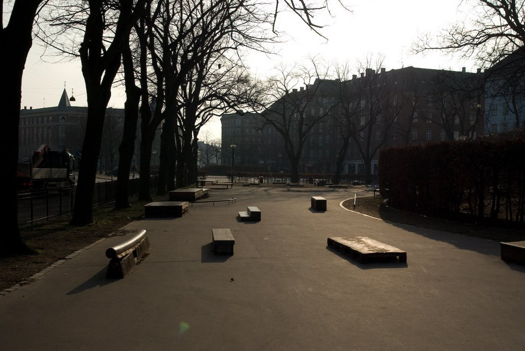 Skate board ramps at Enghaveplads