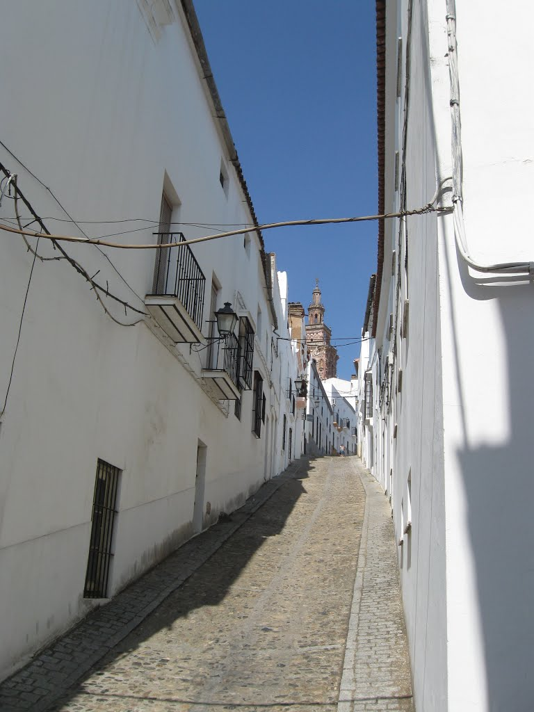 Further way up to the  San Miguel church, Jerez de los Caballeros, Spain