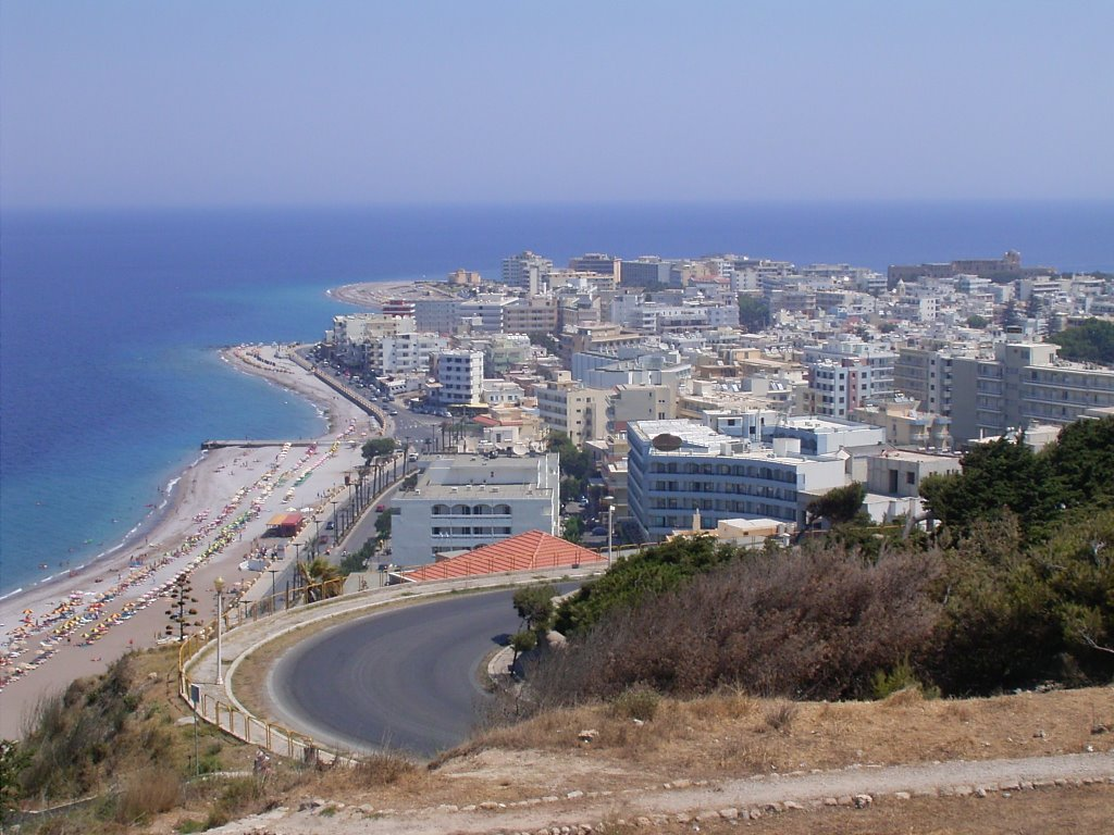 Rhodes, View over Rhodes Town