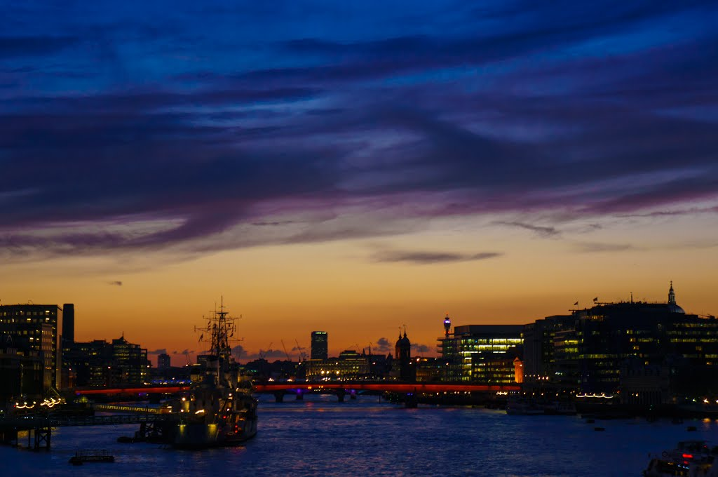 London, view from the Tower Bridge