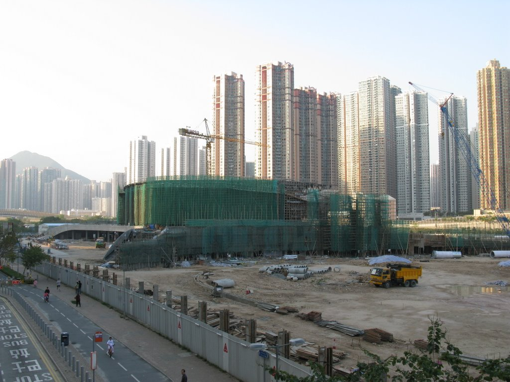 建築中的將軍澳運動場 Tseung Kwan O Sports Ground under construction (2008-03)