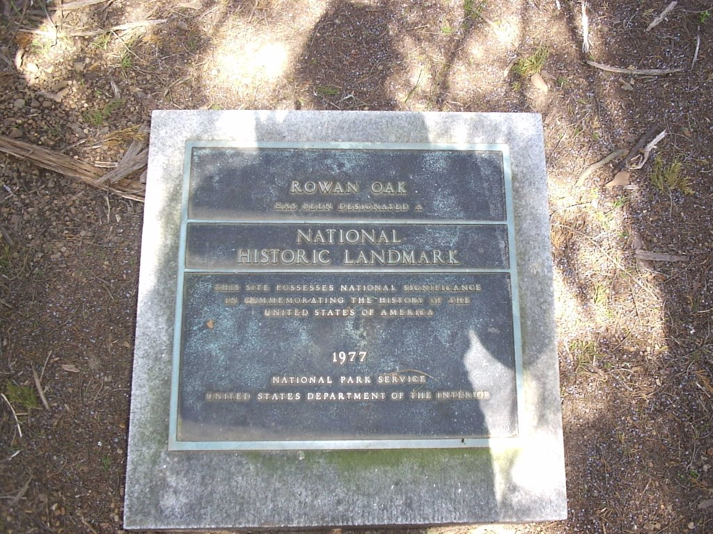 Rowan Oak Monument Plaque