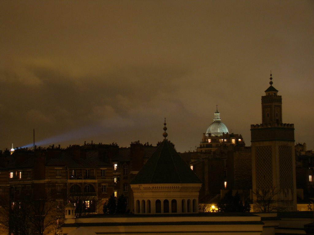 View of the Mosquee, Pantheon and Tour Eiffel
