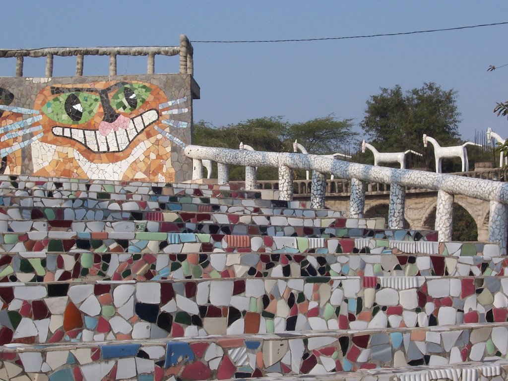 Rock Garden: Outdoor auditorium with mosaics made from discarded porcelain