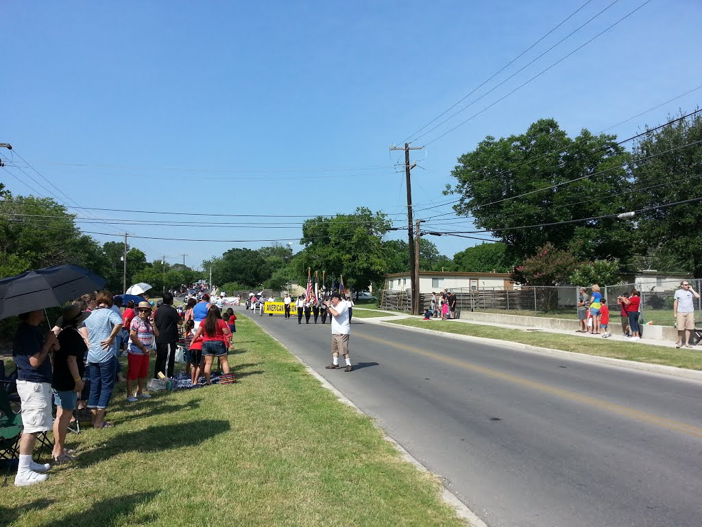 Waiting for the Leon Valley 2013 4th of July Parade